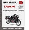 Thumbnail Kawasaki Ninja 250R (GPX250R) 1986-2007 Service Repair Manua