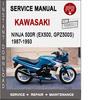 Thumbnail Kawasaki Ninja 500r (EX500, GPZ500S)1987-1993 Service Manual