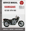 Thumbnail Kawasaki KZ1300 1979-1983 Service Repair Manual PDF