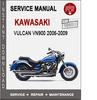 Thumbnail Kawasaki Vulcan VN900 2006-2009 Service Repair Manual PDF