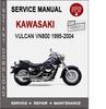 Thumbnail Kawasaki Vulcan VN800 1995-2004 Service Repair Manual PDF