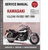 Thumbnail Kawasaki Vulcan VN1500 1987-1999 Service Repair Manual PDF