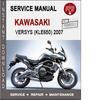 Thumbnail Kawasaki Versys (KLE650) 2007 Service Repair Manual PDF