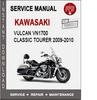 Thumbnail Kawasaki Vulcan VN1700 Classic Tourer 2009-2010 Service Repa