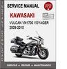 Thumbnail Kawasaki Vulcan VN1700 Voyager 2009-2010 Service Repair Manu