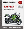 Thumbnail Kawasaki Z1000 2010-2013 Service Repair Manual PDF