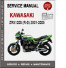 Kawasaki ZRX1200 (R-S) 2001-2005 Service Repair Manual PDF
