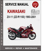 Kawasaki ZX-11 (ZZ-R1100) 1993-2001 Service Repair Manual PD