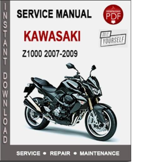Product picture Kawasaki Z1000 2007-2009 Service Repair Manual PDF